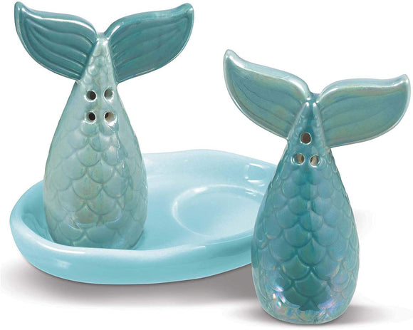 Mermaid Tail Salt & Pepper Shakers Set
