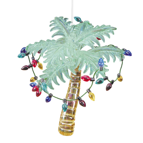 Glass Palm Tree Ornament