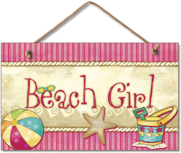 Hanging Sign - Beach Girl
