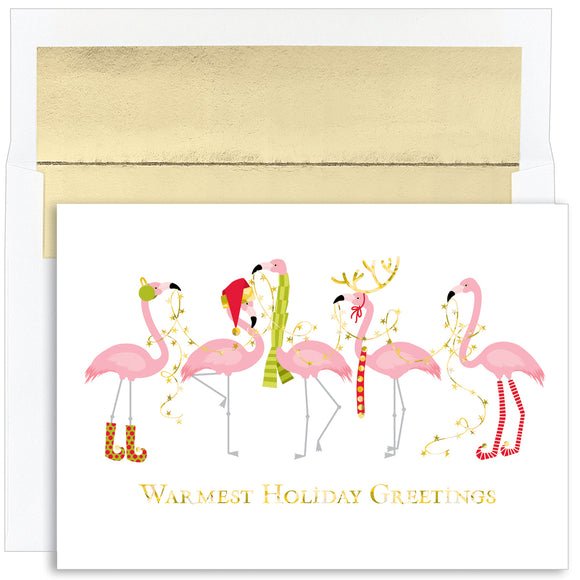 Fashionista Flamingos Boxed Greeting Cards