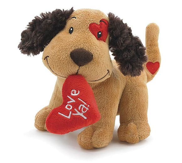 Love Ya Valentine Puppy Plush