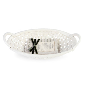 Faith Ceramic Bread Basket with Towel