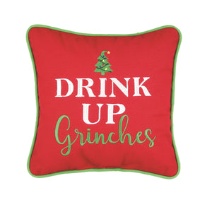 Drink Up Grinches Pillow