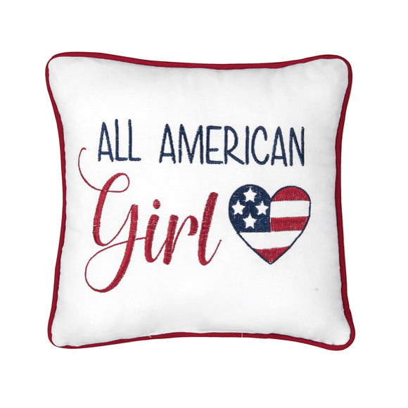 All American Girl Pillow