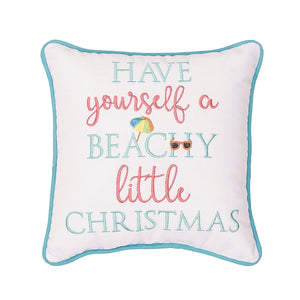 Beachy Little Christmas Pillow