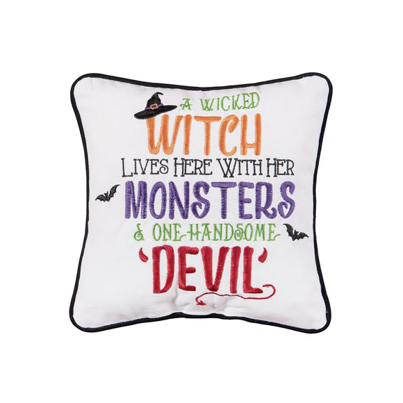 Witch, Monsters and Devil Pillow