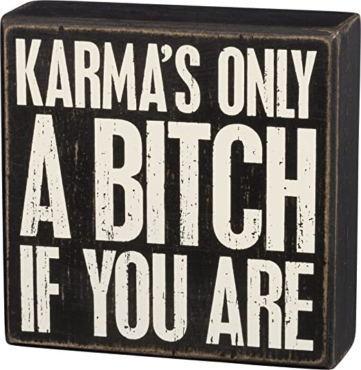 Box Sign - Karma