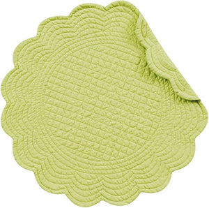 Solid Round Placemat - Assorted Colors