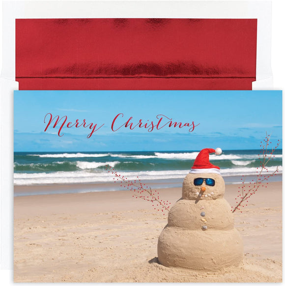 Beach Snowman Boxed Greeting Cards