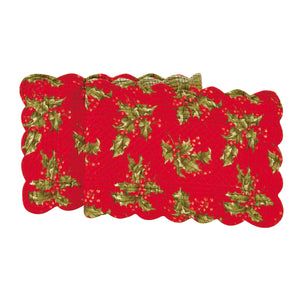 "Holly Red Table Runner 14""x51"""