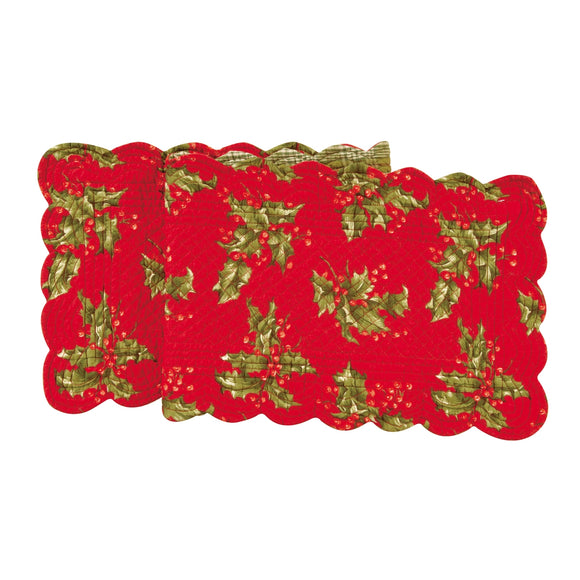 Holly Red Table Runner 14