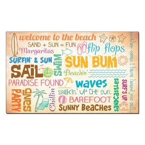 Hanging Sign - Welcome to the beach