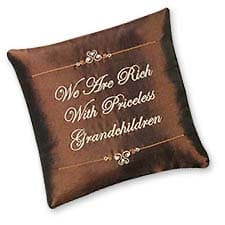 We Are Rich With Priceless Grandchildren Pillow