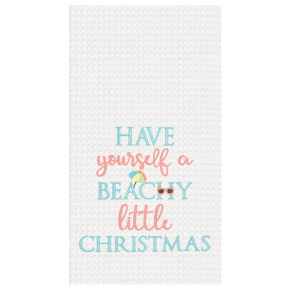 Beachy Little Christmas - Waffle Kitchen Towel