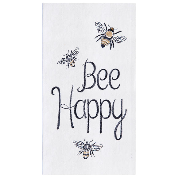 Bee Happy - Flour Sack Kitchen Towel