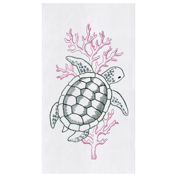 Sea Turtle - Flour Sack Kitchen Towel