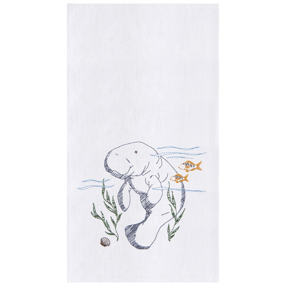 Manatee - Flour Sack Kitchen Towel