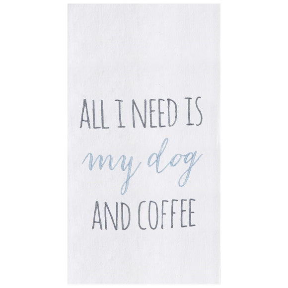 My Dog & Coffee - Flour Sack Kitchen Towel