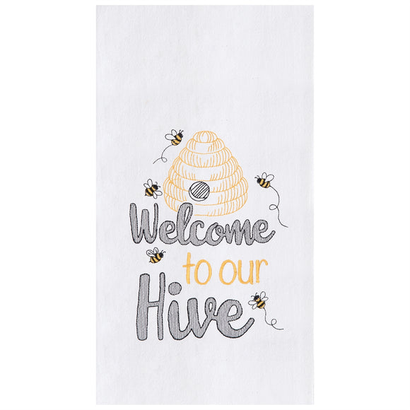 Welcome Hive - Flour Sack Kitchen Towel