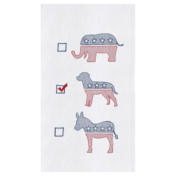 Dog Political Party Towel