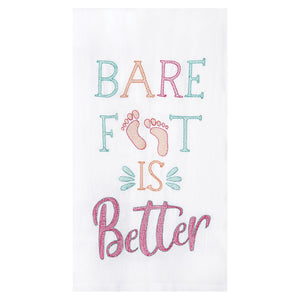Bare Foot Is Better - Flour Sack Kitchen Towel