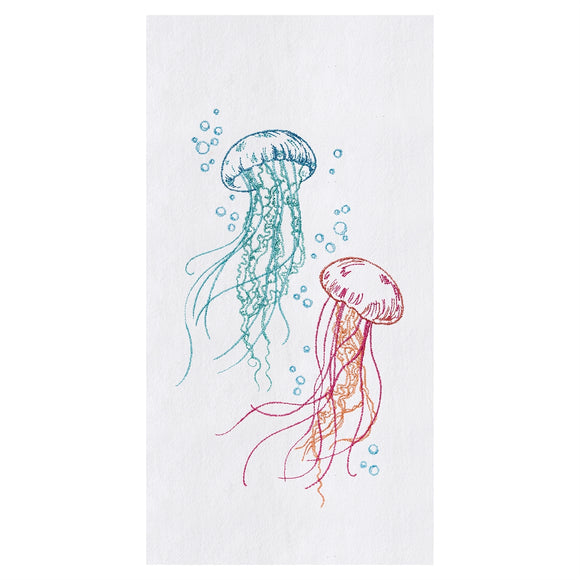 Jellyfish Bubbles - Flour Sack Kitchen Towel