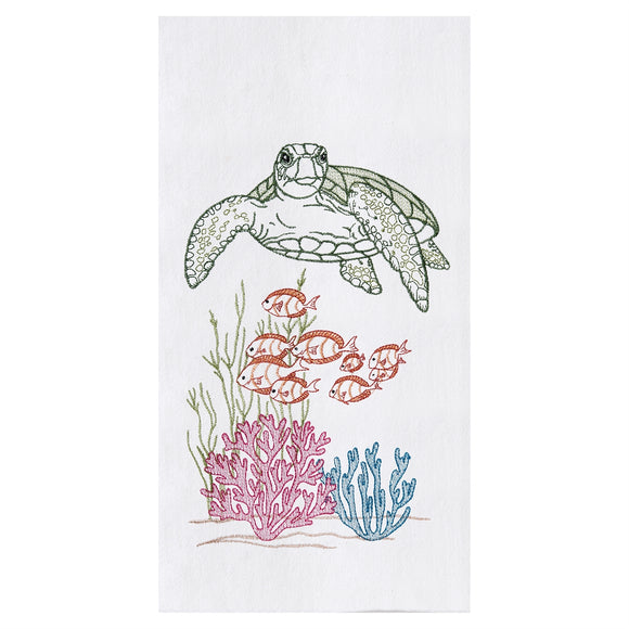 Ocean Life - Flour Sack Kitchen Towel