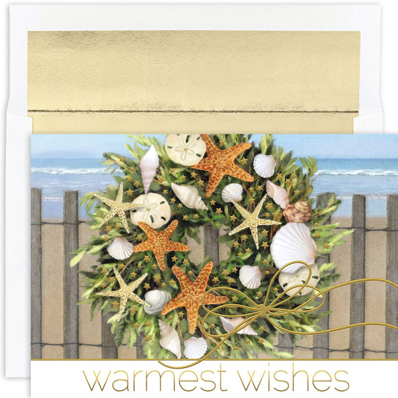 Warm Wishes Wreath Boxed Greeting Cards