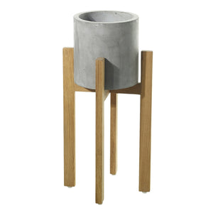Berlin Pot Planter on Wood Stand