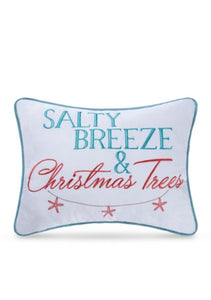 Salty Breeze & Christmas Trees Pillow