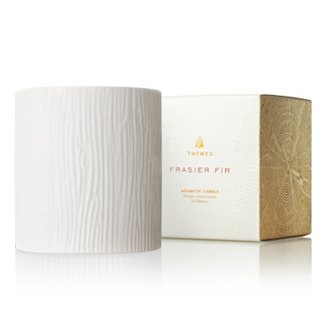 Frasier Fir Gilded Ceramic Poured Candle - Medium