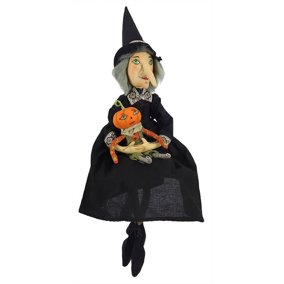 Marleigh Witch & Pumpkin Doll - Joe Spencer