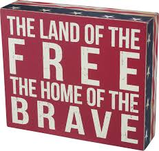 Box Sign - Land of the Free