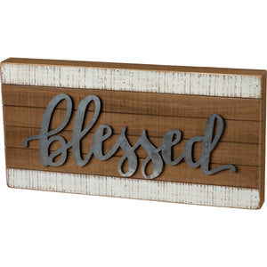 Box Sign - Blessed (Metal)