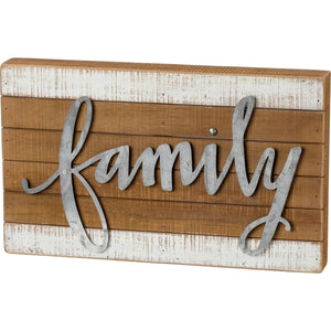 Box Sign - Family