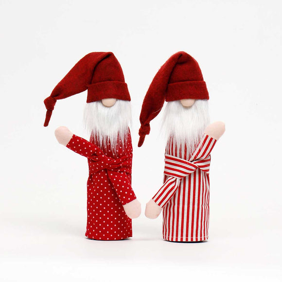 Sleepy Santa Gnome Bottle Covers