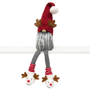 Gnome with Antlers and Dangle Legs - 24""