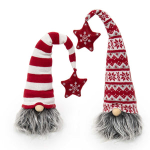 Gnome Head with Star POM - 2 Assorted