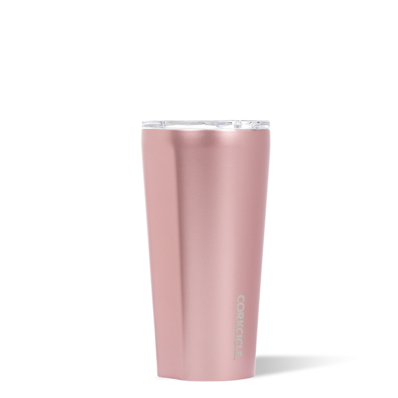 Tumbler - 16 OZ Metallic Rosé