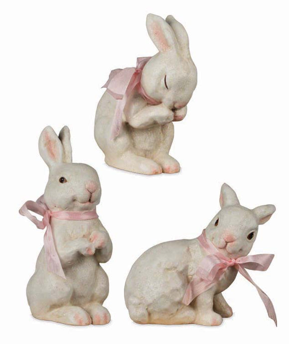 Playful Bunny Figures - 3 Assorted