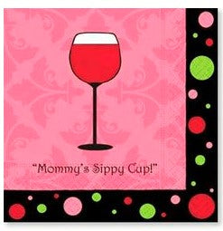 Mommy's Sippy Cup Napkin - Beverage