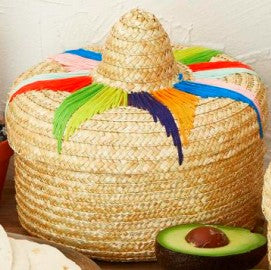 Otomi Tortilla Handwoven Basket with Lid