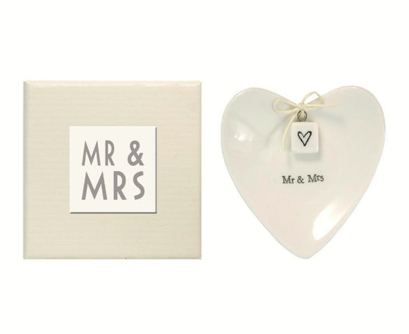 Mr. & Mrs. Ring Dish in Gift Box
