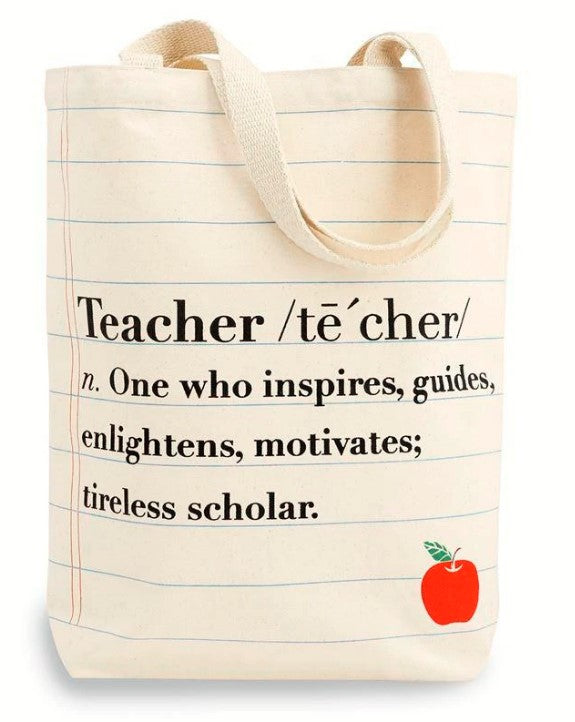 Teacher Canvas Totes - Assorted