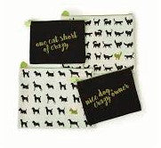S/2 Canvas Pouches - Dogs/Cats Asst