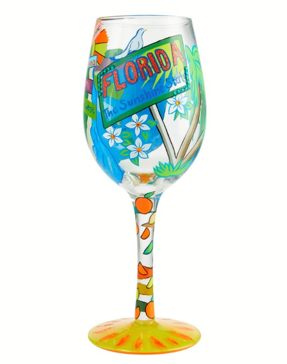 Lolita Florida Fun Wine Glass