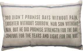 God Didn't Promise - Throw Pillow
