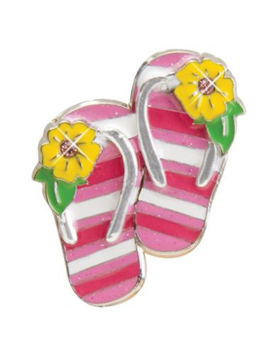 Striped Flip Flops - Finders Key Purse
