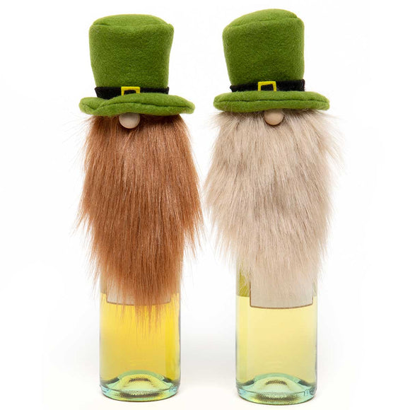 St. Patty Gnome Beer Bottle Topper - 2 Assorted