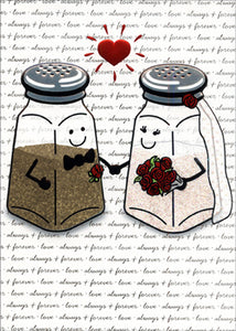 Card - AP/Wedding - Salt and Pepper Shaker